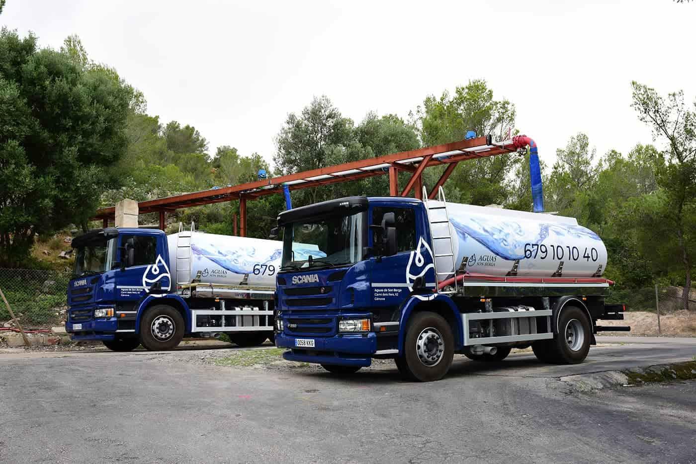 Flota camiones de agua